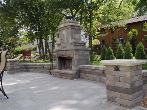 patio paver lights low voltage this simple block fireplace with seat walls and low