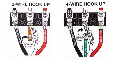 4 prong dryer outlet wiring diagram four prong outlet