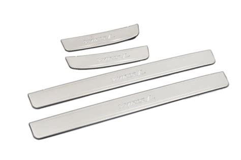 Sillplate Sing Stanless Yaris chrome door sill scuff plates with led light for toyota yaris 3rd generation r plus auto