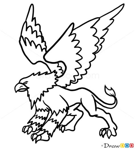 how to draw griffin monsters