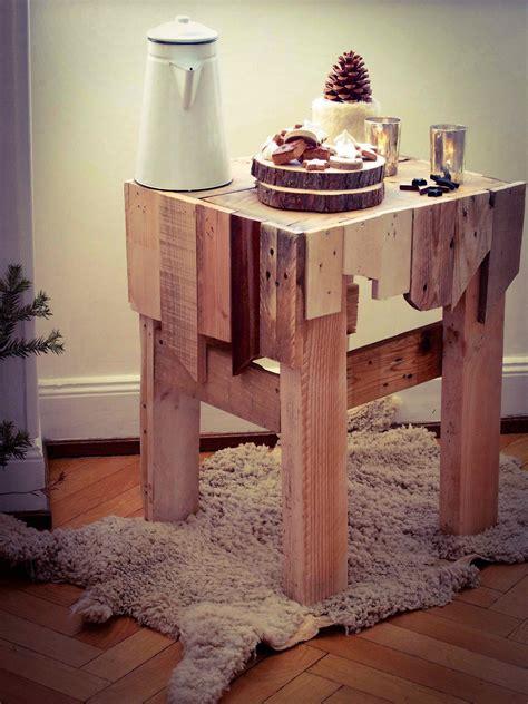 table de nuit en palette palette woody x caramelle caramelle carnet d