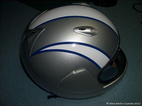 design folien helm einzelanfertigung zweifarbiges helm dekor 171 west berlin