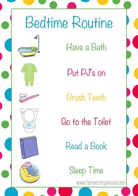 printable toddler routine best 25 bedtime routines ideas on pinterest kids
