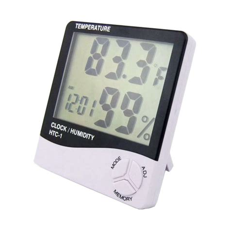 Termometer Digital Ruangan jual digital htc 1 thermometer and hygrometer pengukur