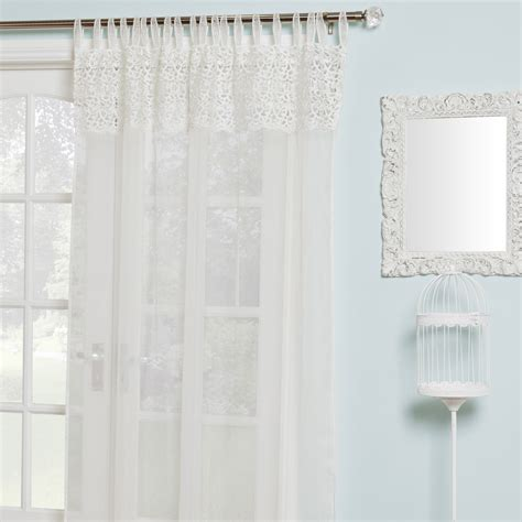 voile curtains macrame voile curtain