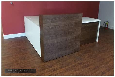 reception desk wood reception