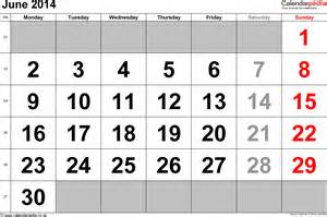 June 2014 Calendar Calendar June 2014 Uk Bank Holidays Excel Pdf Word Templates