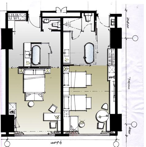 hotel room floor plans hotel plan archtects pinterest room interiors and