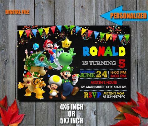 Mario Bros Invitation Mario Bros Birthday Invitation Super Mario Bros Birthday Invitation Templates