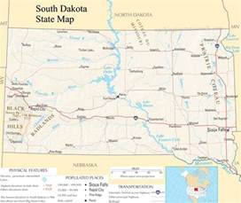south dakota state map a large detailed map of south