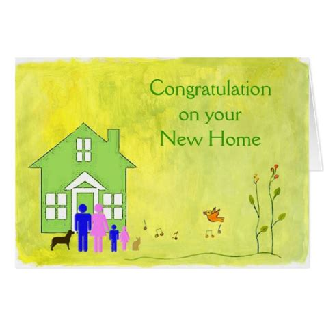 congratulations on your new home card zazzle