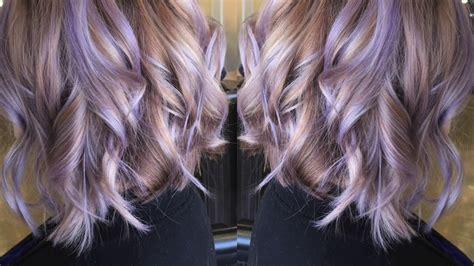 smoky lavender hair color transformation