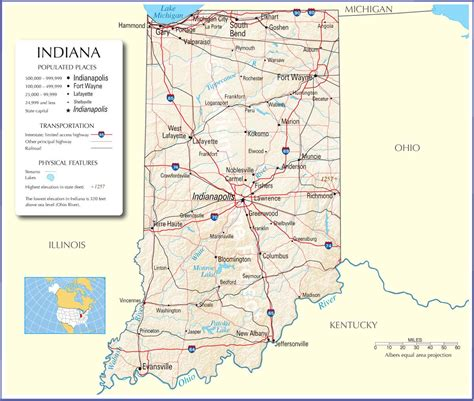 map usa indiana indiana map indiana state map indiana road map map of indiana