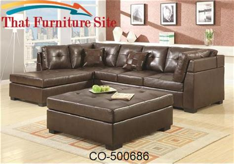 Darie Leather Sectional Sofa With Left Side Chaise By Darie Leather Sectional Sofa