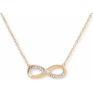 Infinity Necklace Walmart 18kt Gold Sterling Silver Infinity Necklace