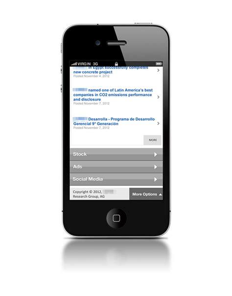 web version on mobile mobile version of intranet web portal on behance