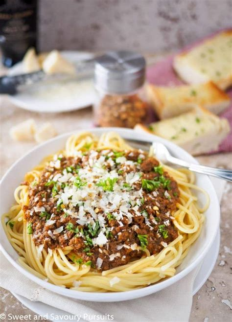 easy pasta sauce easy spaghetti meat sauce sweet and savoury pursuits