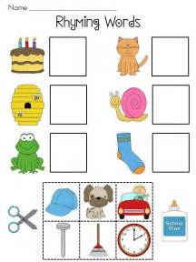 rhyming worksheets rhyming will pictures and literacy