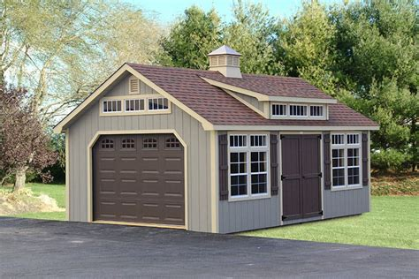 Backyard Garage Designs by Photo Gallery Of The Lancaster Style Shed From Overholt In