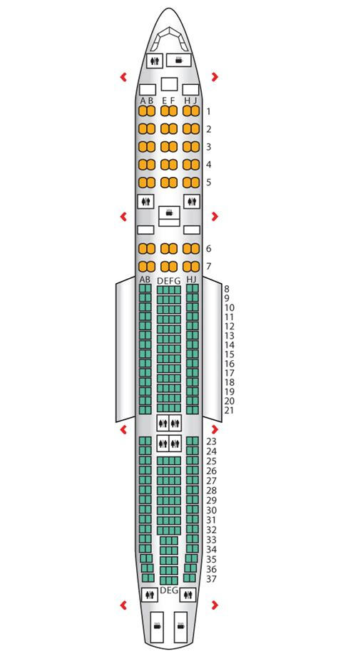 Garuda Plus Seat Layout | airbus a330 300 garuda indonesia seat maps reviews
