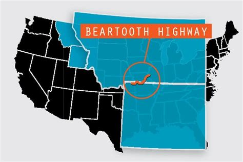 beartooth highway map beartooth scenic highway motorhome magazine