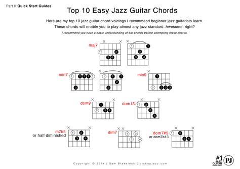 chord jazz guitar tutorial top 10 easy beginner jazz guitar chords