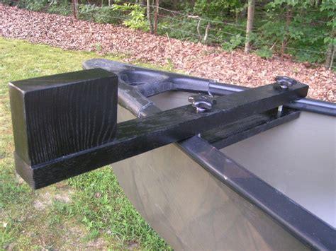 electric trolling motor canoe mount canoe trolling motor mount black finish doweled ebay