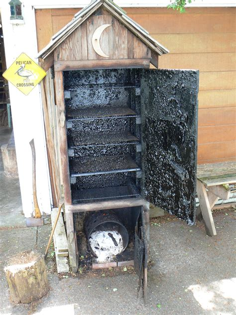 build your own backyard smoker homemade wooden smoker google search gotowanie