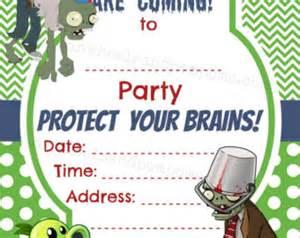 plants vs zombies invitation template plants vs zombies birthday invitation blank