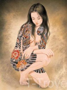 tattoo japanese lady wall scroll 1000 images about home on pinterest milk crates diy