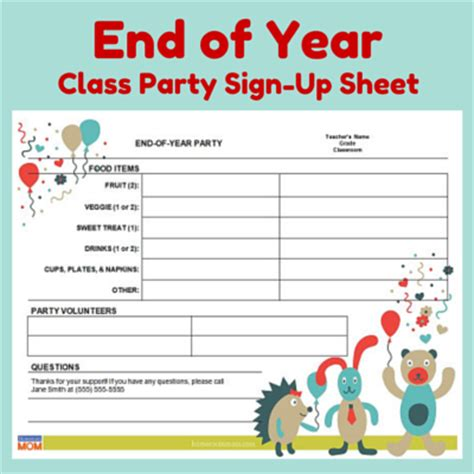 College Letter Sign Up End Of Year Homeroom