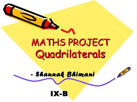 Understanding Home Network Design mathsproject quadrilaterals