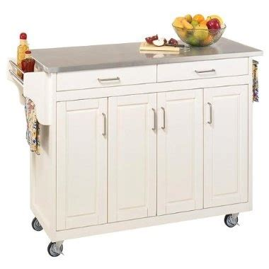 Kitchen Island Cart Target by Home Styles Kitchen Cart With Stainless Steel Top White