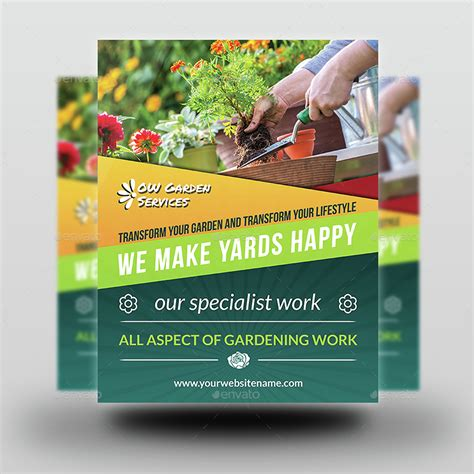 flyer templates gardening garden services flyer template vol 3 by owpictures