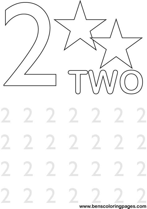 Number 2 Coloring Pages For Preschoolers by Learning The Numbers Preschool Coloring Page