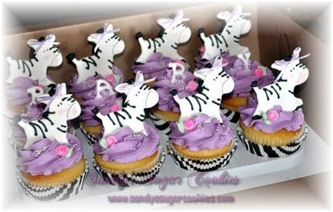 Baby Shower Cupcakes San Diego by Zebra Baby Shower Cupcakes From S Sugar Cookies In