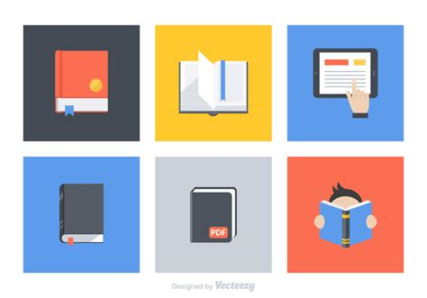 book layout eps flat book vector icon set download free vector art