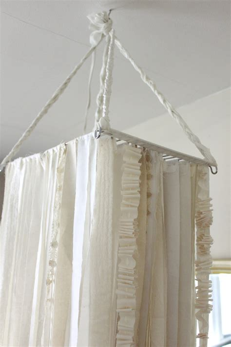 D.I.Y. Oversized Fabric Garland Chandelier ? A Beautiful Mess