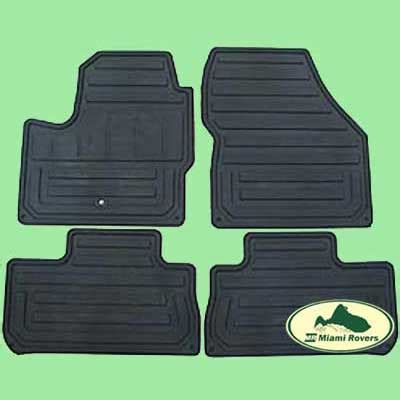 Miami Rubber Upholstery by Land Rover Rubber Floor Mats Set Kit Lr2 08 10 Oem New
