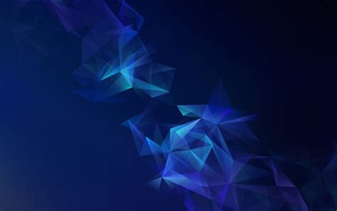 samsung galaxy  blue lowpoly wallpapers hd wallpapers id