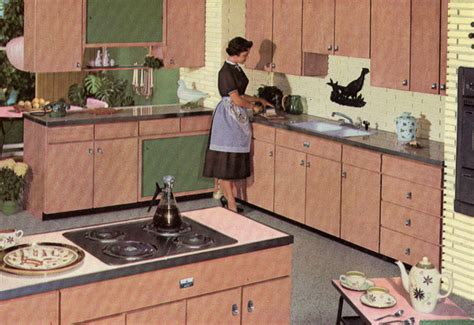 Retro Metal Kitchen Cabinets decorating a 1960s kitchen 21 photos with even more