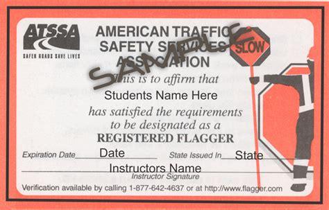 flagger certification card template flagger card sle flagger