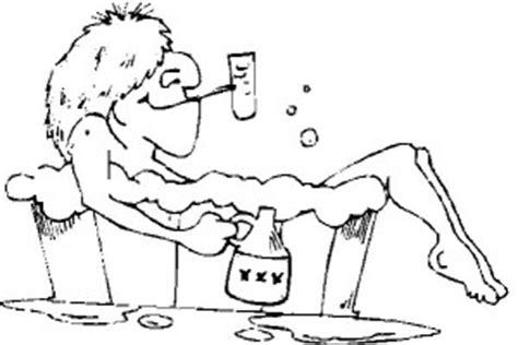 Badewanne Comic by Alter Mann Trinkt In Der Wanne Ausmalbild Malvorlage In