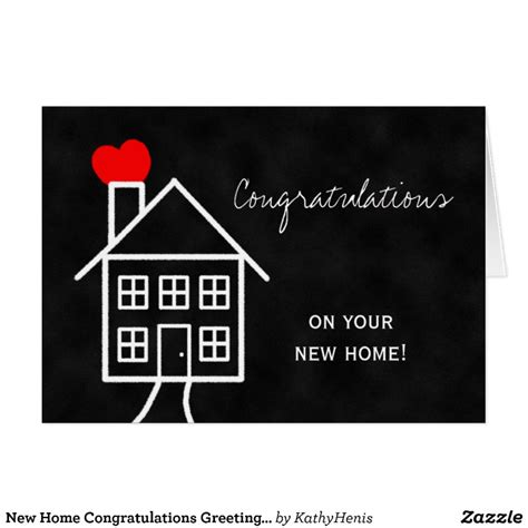 congratulations new home card template new home congratulations greeting card zazzle