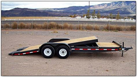 tilt bed car trailer innovative trailer mfg tilt bed trailers