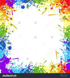 Paint Color Templates by Color Rainbow Paint Splashes Background Vector Stock