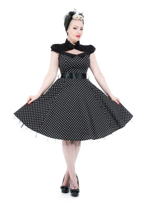 marke swing kleider hearts roses 50er pin up polka dots bolero swing