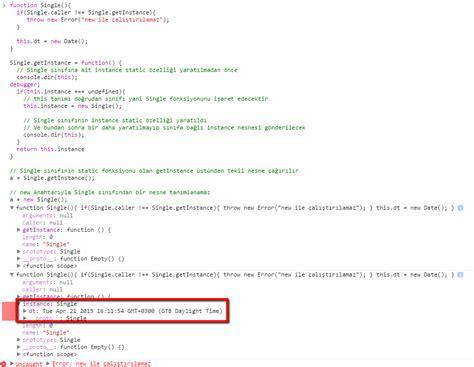 singleton pattern in js notlarimdan singleton