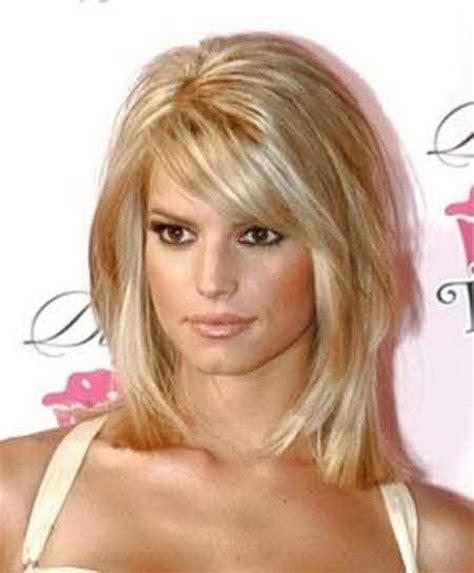 shoulder length blunt bob thin hair medium length haircuts for thin hair