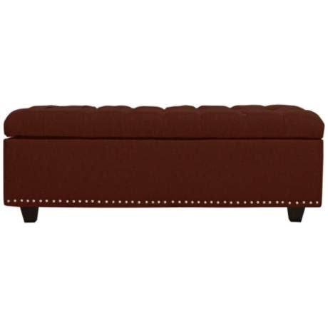 burgundy storage ottoman grant burgundy fabric tufted storage ottoman 1x404